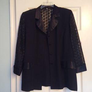 Black lace dinner jacket